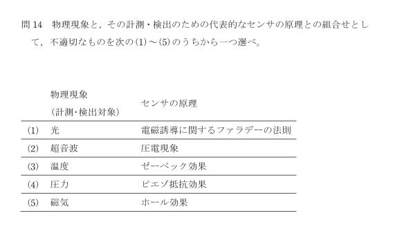 【電検3種(R2年度)】理論科目:問14